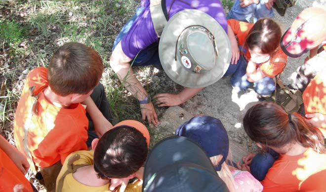 Children learning at the Fort Worth Nature Center